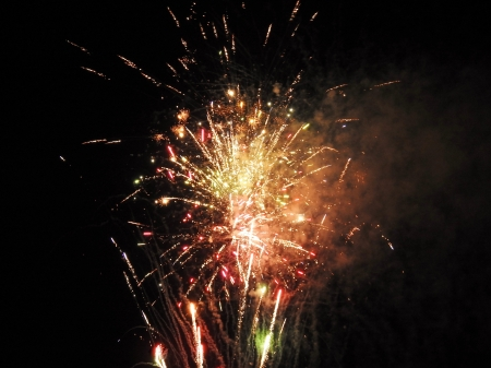Fireworks In Abstract - Summer, Fireworks, Photography, Sky, Abstract