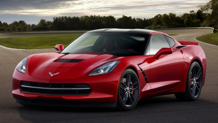 2014 Chevrolet Corvette Stingray Coupe - Stingray, Coupe, Red, Car, Chevrolet, Sports, Corvette