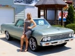 1966 Chevy El Camino 400 Small Block and Girl