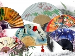 Japanese Fan Collage