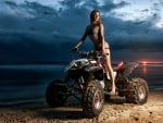 Girl on a Quad at Sunset