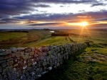Sunset & Hadrian's Wall