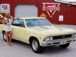 1966 Chevy Chevelle SS 396 Muncie 4 Speed 12 Bolt and Girl