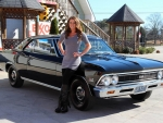 1966 Chevy Chevelle SS 396 Muncie 4 Speed 12 Bolt PS Super Sport and Girl
