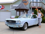1965 Ford Mustang Coupe 302 and Girl