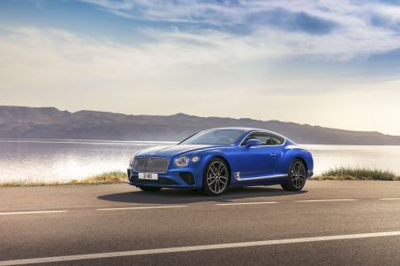 2018-Bentley-Continental - Blue, 2018, Luxury, Outdoors
