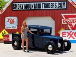 1934 Custom Mercury Pick Up Flat Head V8 Good Guys Show Winner Ford Clone and Girl