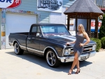 1968 Chevy C10 350 and Girl