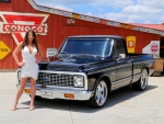 1969 Chevy C10 Pick Up and Girl