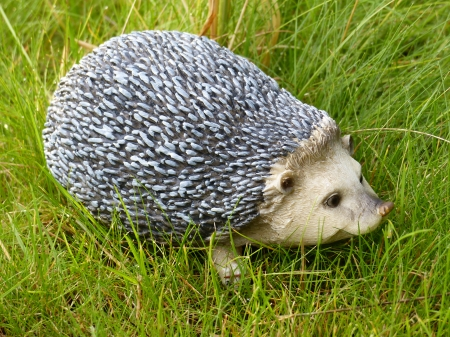 Hedgehog - hedgehog, grass, summer, garden, animal, figur