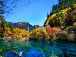 Beautiful autumn at lake
