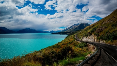 Scenic Queenstown New Zealand Lakes Nature Background