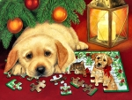 A Puzzle for Christmas - Dog