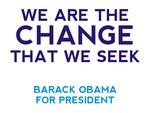 Barack Obama, The Change We Seek