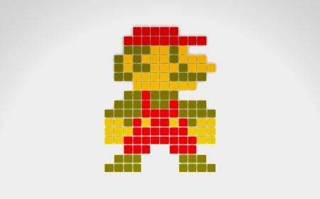 8-bit Mario - nintendo, 8-bit, pixel, retro, mario