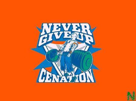 WWE 2K14 Superstar Threads John Cena Green Never Give Up ...  |John Cena Logo Never Give Up 2014