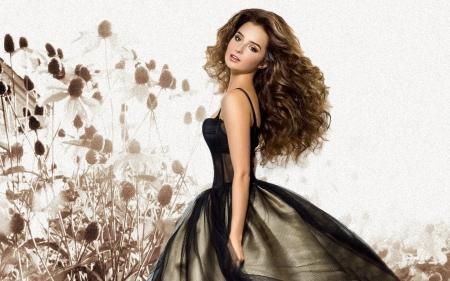 Gorgeous brunette models