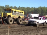 school bus mud truck