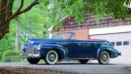 1941-Buick-Super-Convertible-Sedan - Classic, Whitewalls, GM, Blue