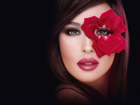 fashion makeup - beauty, photography, cool, people, fashion, red, flower