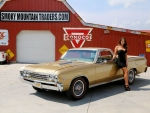 1967 Chevy El Camino 396 Frame Off Resto Turbo 400 12 Bolt and Girl