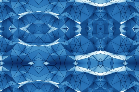 Origami Mayhem - Photoshop, Layers, Origami, Abstract, White, Mayhem, Blue