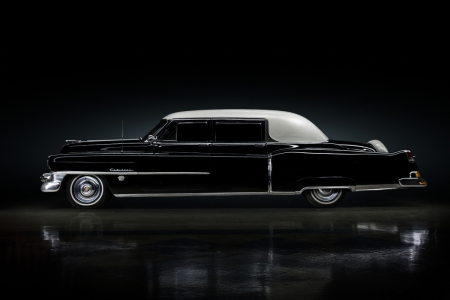 Potus Eisenhower Limo - Black, GM, White Top, Caddy