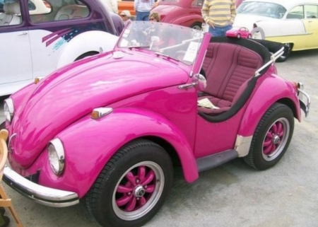 Pink Bug - Small, Volkswagen, Pink, Car
