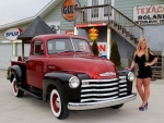 1951 Chevy 3100 255 I6 3-Speed and Girl