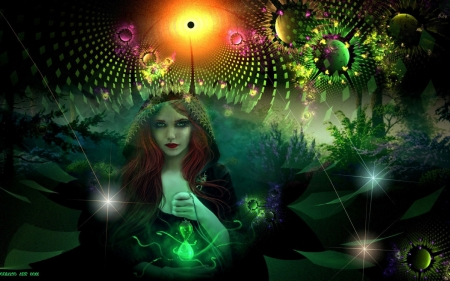 Where Magic Begins... - Magical, Woman, Enchanting, Wicca, Beautiful