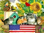 Patriotic Kittens - Cats F