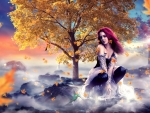 Fantasy Autumn by The Shore