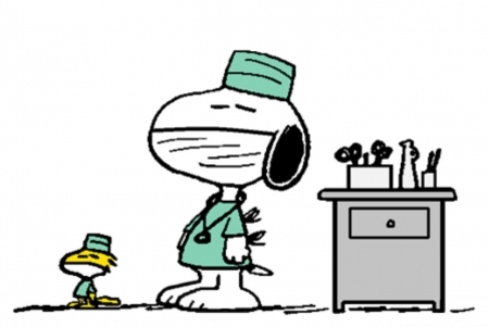 Snoopy and Woodstock  - Woodstock, Snoopy, Funny, Abstract