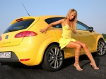 Blonde With Car