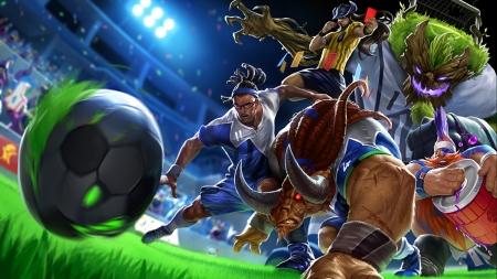 league of legends - grass, league, legends, ball