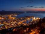 Night View From Mount Floyen, Bergen, Norway
