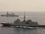 WORLD OF WARSHIPS HMS Defender Type 45 Destroyer exercising with French Navy FREMM frigate Provence