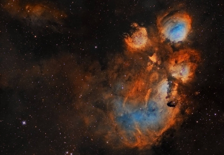 NGC 6334 The Cat's Paw Nebula - stars, cool, nebula, space, fun, galaxies