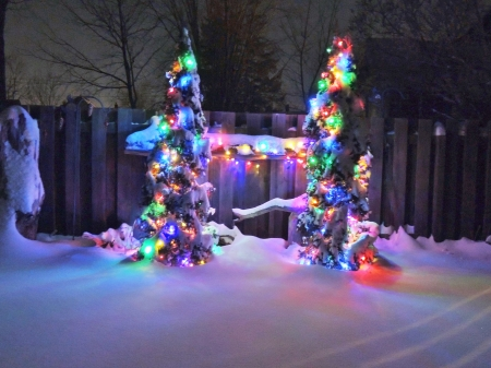 christmas lights winter nature background wallpapers on desktop