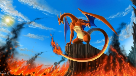 Charizard - Pokemon, Dragon, Lava, Charzard, Fire
