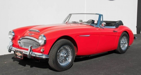 1963 Austin-Healey 3000 Mk II Convertible 2 2 (BJ7), 2.9L, 4-Spd Manual - Convertible, Red, 4-Speed, Car, Sports, MK II, 3000, Old-Timer, Austin-Healey, Manual