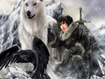 Ian Somerhalder as Jon Snow (fantasy)