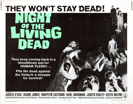 Night Of The Living Dead Movies Entertainment Background