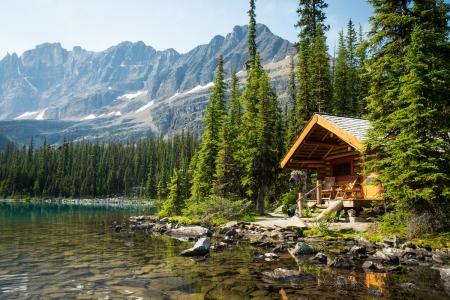 Rocky Mountain Cabin Lake O Hara Canada Mountains