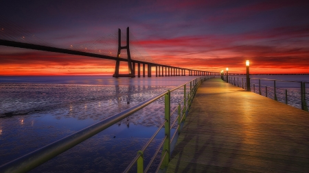 Portugal Bridge Sunset