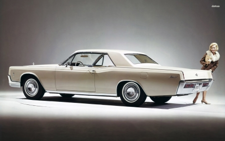 lincoln continental - continental, coupe, lincoln, girl
