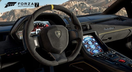 Forza Motorsport 7 - Motorsport 7, interior, Forza, video game, HD, lamborghini, gaming, car, auto, realistic, Forza Motorsport 7