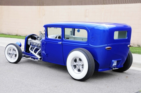 1930 Ford - Hotrod, Whitewalls, Blue, Classic