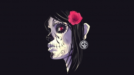 Rose Sugar Skull Other Abstract Background Wallpapers On