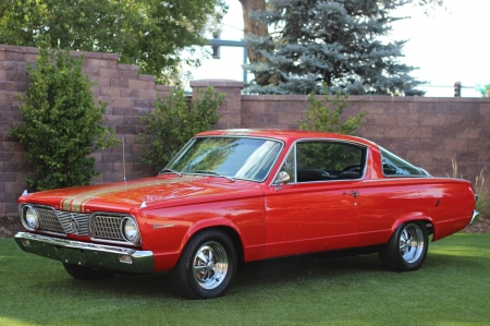 1966 Plymouth Barracuda 273ci V8 3-Speed Automatic - Old-Timer, Red, Car, Barracuda, Muscle, Plymouth
